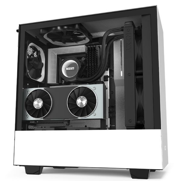 NZXT H510i Matte White / Black Mid Tower Case